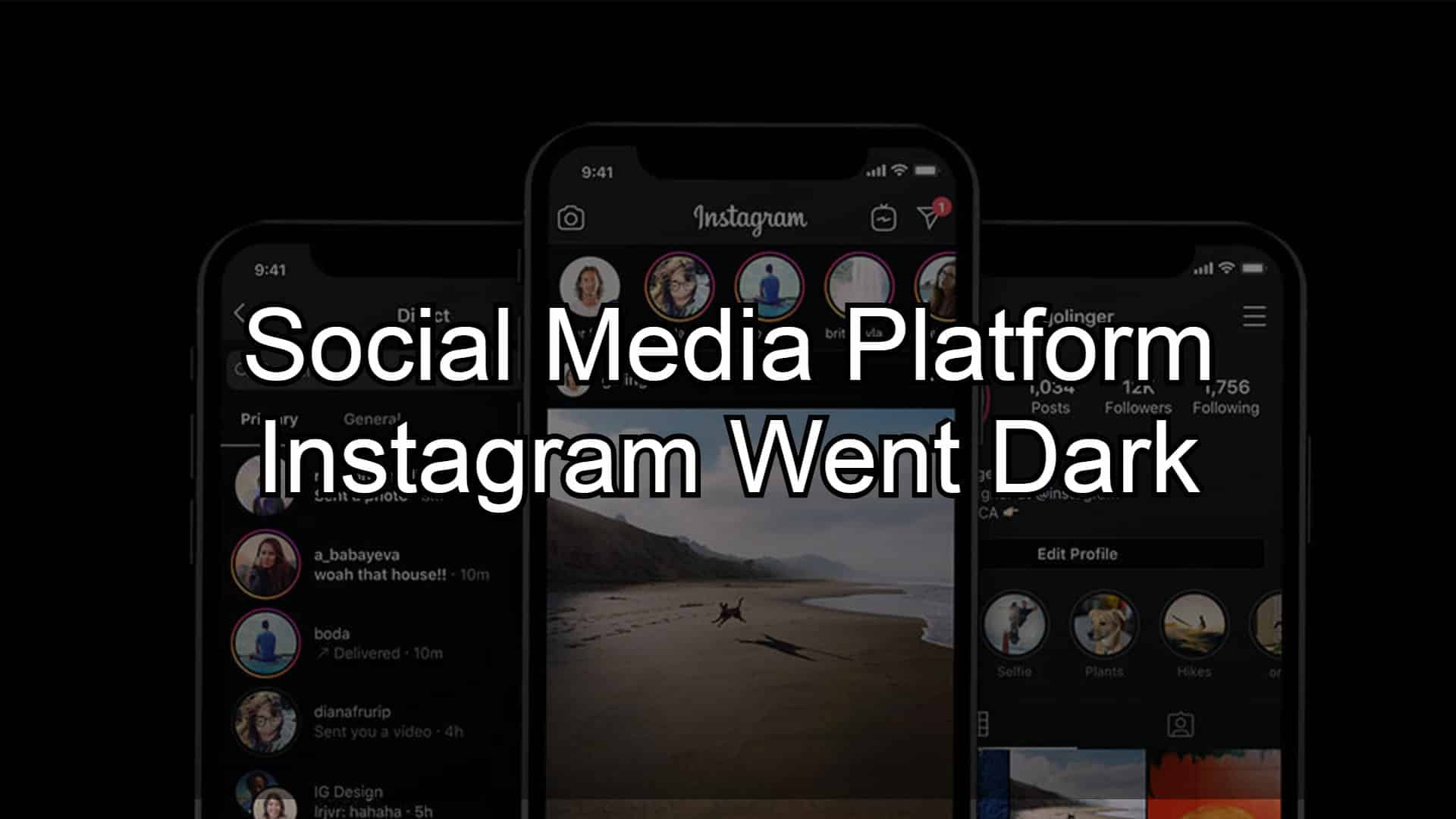 Social Media Platform Instagram Went Dark